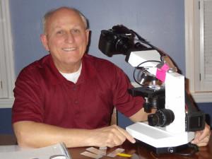 Walt & microscope