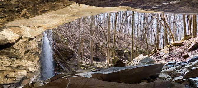 Cave at Big Laurel Falls