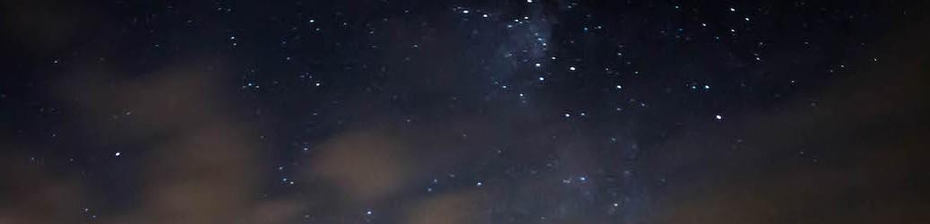 clouds over Milky Way