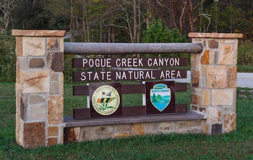 Pogue Creek Canyon sign